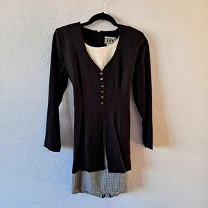 DBY Vintage Black Plaid Dress